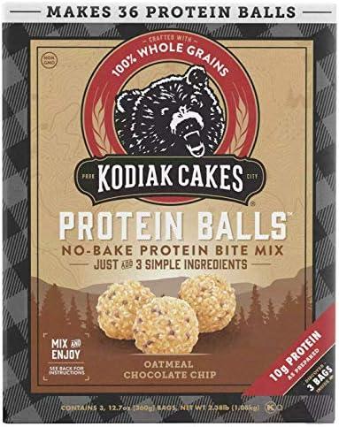 Kodiak Cakes Protein Balls Oatmeal Chocolate Chip 12 7 oz 3 pk product image