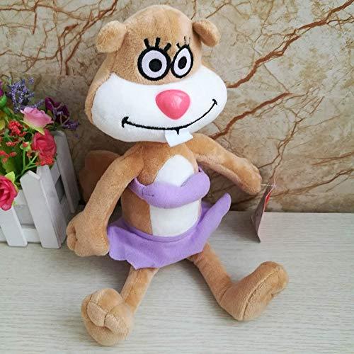 FCS Plüschtier Sandy Spongebob Thaddäuskrabben Sandy Gary Der Schneckenplüsch Spielzeug Gute Qualität Kinderspielzeug Geburtstagsgeschenk Kuscheltierpuppe