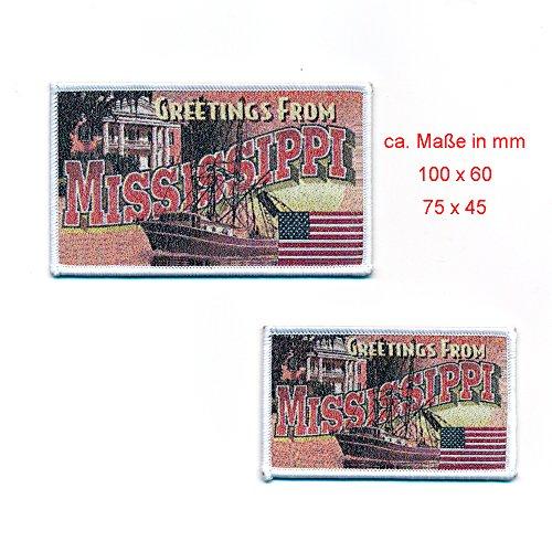 Mississippi jackson 2 patchs uSA style rétro et coutures 0814 patch
