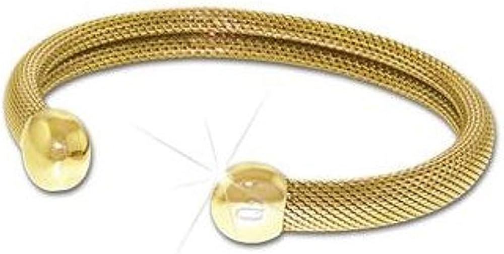 QRay Q2 Milano Safety and trust Mesh Goldtone Bracelet MEDIUM Q.Ray SIZE SALENEW very popular! Ray Q Q-