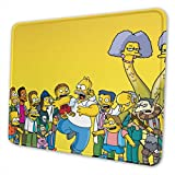 The Simpsons Gaming Mouse Pad with Stitched Edges Computer Mouse Mat Non-Slip Rubber Base for Laptop PC 12 X 10 X 0.12 Inches