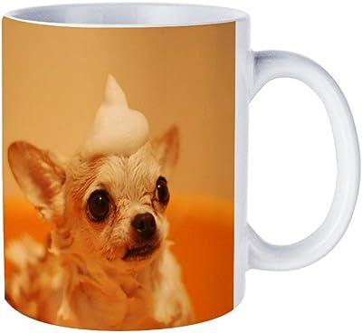 White Mug チワワ お風呂 犬マグカップ コーヒーカップ ミルクカップ 家庭用・オフィス・来客招待に適応 カップル ギフト 330ml