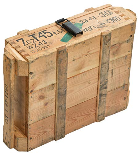 Munitionskiste T45 Natur Aufbewahrungskiste ca 49x37x18cm Militärkiste Munitionsbox Holzkiste Holzbox Weinkiste Apfelkiste Shabby Vintage - 4