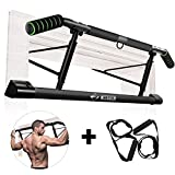 Chriffer Pull Up Bar for Doorway with Mount Hook No Screw Chin Up, Strength Training Upper Body Workout Bar with Bonus...