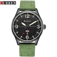 ZHANGZZ 美しいCURREN時計 防水カレンダーメンズウォッチスタイリッシュなミニマリストダブルカレンダー腕時計ベルトウォッチ (Color : 4)