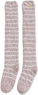 kingcxu, Calcetines largos para mujer (forro polar), diseño de coral, calcetines gruesos