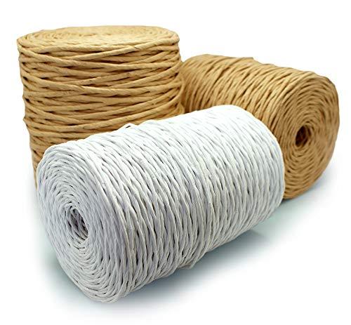 MW.Shop.24 papieren koord verpakking knutselen bloemenstuk gereedschap knutselwerk handwerk en geschenken in de EU 50m 1,5 mm: bruin natuur
