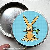 Dose Bonbondose Hase Kaninchen Bunny mit Möhre