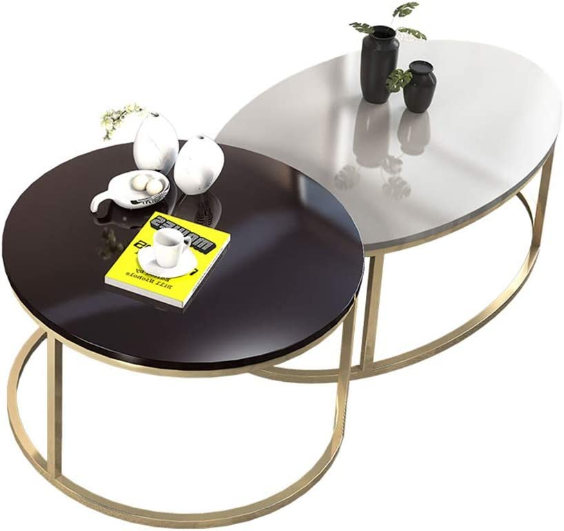 Popularity FANG- 2 Coffee Tables Wood and Home Sales Steel Living Decoration Room