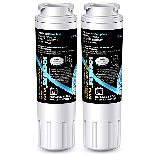 ICEPURE PLUS NSF 53&42 Certified UKF8001 Refrigerator Water Filter, Compatible with Maytag UKF8001, UKF8001AXX, UKF8001P, Whirlpool 4396395, 469006, EDR4RXD1, EveryDrop Filter 4, Puriclean II, 2 Pack
