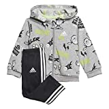 adidas Unisex Kinder I GRAP Fz Hd Ft Trainingsanzug, Mgreyh/White, 68