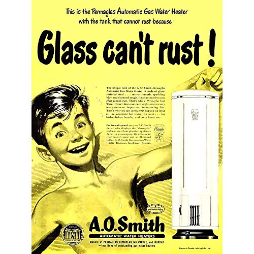 Wee Blue Coo Advertising 1950 Ao Smith Water Heaters Household Boy Art...