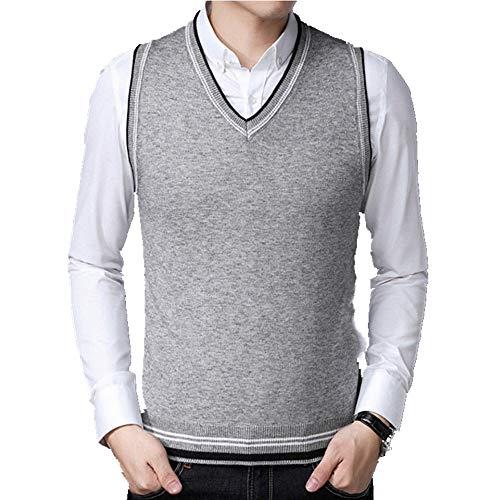 Suéter para los Hombres Pullovers Cuadros Suéteres Chalecos Slim Fit Puentes de Punto Chaleco Otoño Invierno Casual Hombre Ropa Tire Homme