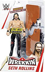 """Seth Rollins - Kicking - Table. Time to wrekk the competition! Each figure comes with a """"wrekk-able"""" accessory like a ladder, table and more Moves are activated by a pull-back motion and figures also feature a """"lock tight grip"""" that allows figures to..."""