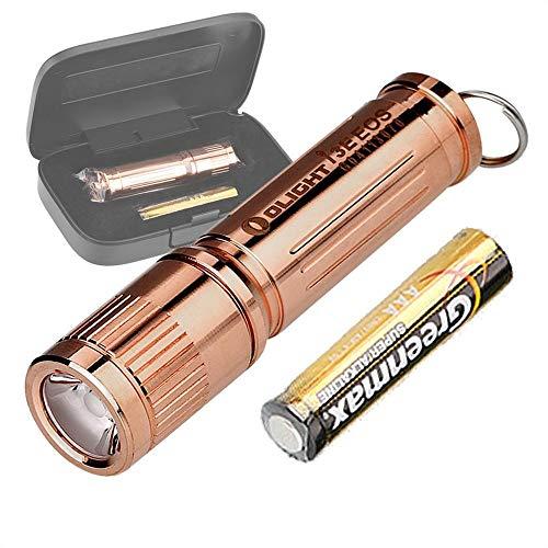 OLIGHT 120 Lumens i3E Copper Lens AAA Flashlight Compact Keychain Flashlite