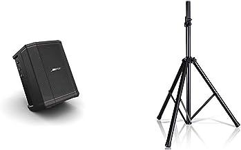 """Bose S1 Pro Sistema de altavoces Bluetooth portátil con batería ? Negro & Pyle Soporte de altavoz universal Soporte trípode resistente con altura ajustable de 40 """"a 71"""" y 1.378 in"""