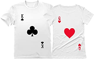King & Queen Matching Couple Ouffit T-Shirt Set for Him & Her - Valentines Day