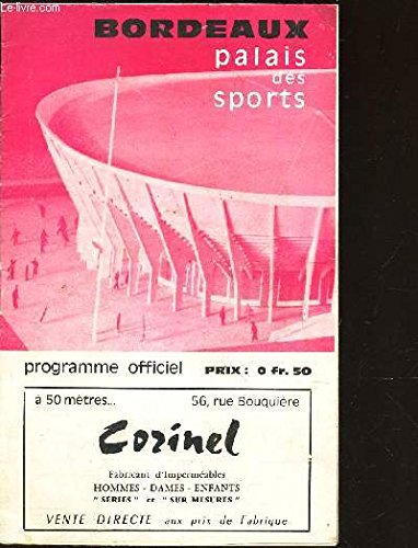 PROGRAMME OFFICIEL : GRAND GALA DE BOXE - LE 18 MARS 1966