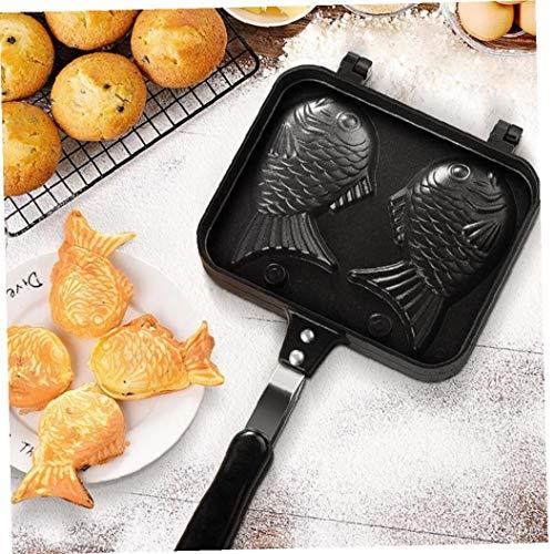 Pancake Maker Creative Fish-Forme Bakeware Pan 2 Cast Crêpes Gâteau du Four Pratique Accueil Cuisine Accessoires De Cuisson