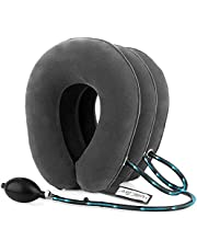 HailiCare Neck Pillow, Inflatable Cervical Neck Traction Device, Effective and Instant Relief for Chronic Neck and Shoulder Pain, Cervical Collar Adjustable (Grey)