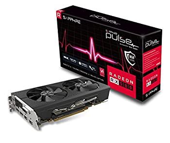 SAPPHIRE Radeon 11265-05-20G Pulse RX 580 8GB GDDR5 Dual HDMI/ DVI-D/ Dual DP OC with Backplate  UEFI  PCI-E Graphics Card Graphic Cards