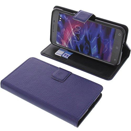 foto-kontor Tasche für MEDION Life E5008 Book Style blau Schutz Hülle Buch