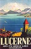 Vierwaldstättersee Poster Blechschild Luzern der Schweiz,