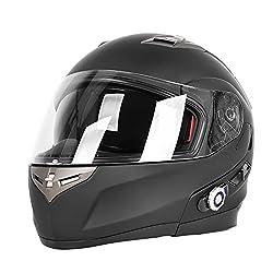 cheap FreedConn Motorcycle Bluetooth Helmet BM2-S Bluetooth Integrated Modular Flip Up Double Visor Full…