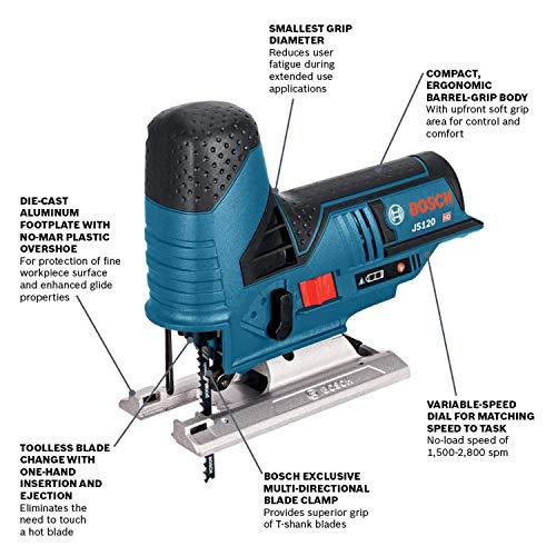 Product Image 2: Bosch JS120N 12V Max Barrel-Grip Jig Saw (Bare Tool)