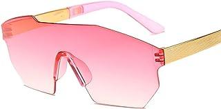 QPRER - Gafas De Sol,Rosa Marco Extragrande Gafas Irregulares Personalidad Verano Niños Calle UV Gafas De Sol Chicas Bonita Playa Viento Y Polvo Gafas IR De Compras Gafas Recuerdo Regalo De Cumpleaños