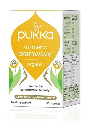 Pukka Organic Turmeric - Brainwave 30 Capsules (Pack of 2)