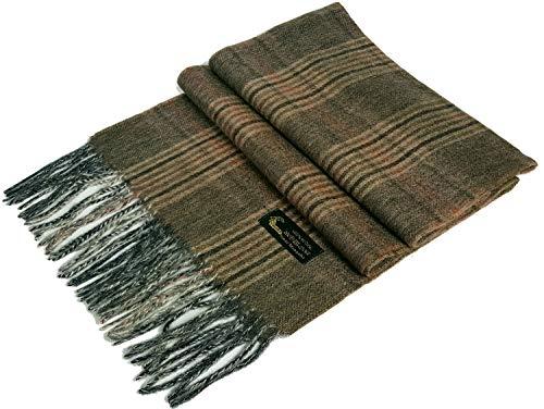 GFM Sciarpa da uomo in lana 100% di alta qualità per l'autunno e l'inverno. (.LANA 100% (Y31))