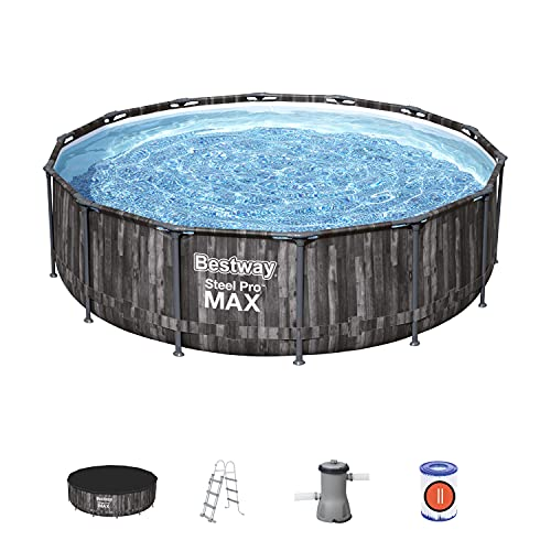 Bestway BW5614ZGB Steel Pro Max, Above Ground Swimming Pool with Filter, Rattan...