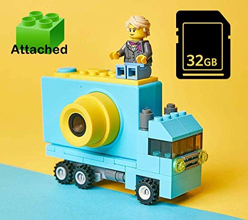 Digitcont Kid Cam Blue, Digital Camera for Kids, 1080P FHD Kids Camera 2 Inch IPS Screen Lego Compatible Selfie Support 32GB SD Card Best Gift for Boys Girls Truck