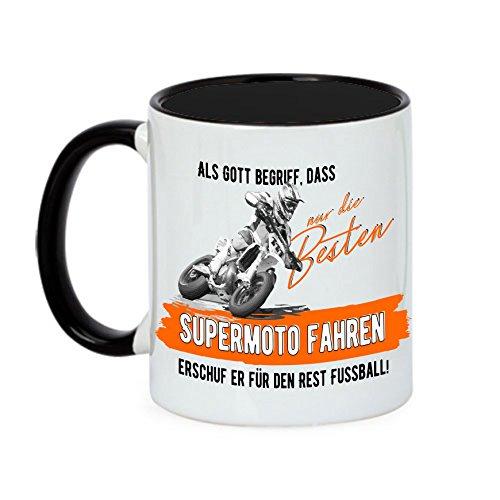 Siviwonder Tasse Gott besten Supermoto Fahren Vintage Bike NO Fußball Kaffeebecher
