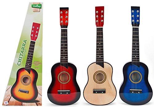 Globo Juguetes Globo–3605463cm Legnoland Guitarra de Madera con 6Cuerdas
