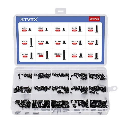 XTVTX 300PCS Laptop Notebook Computer Screw Kit Laptop Computer Screws Assortment Set Computer Repair Accessories for Universal Laptop