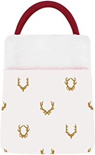 C COABALLA Seamless Pattern malist with Deer Antlers,Christmas Stocking Velvet ta's Gift Sack, Candy Pouch Bags for Xmas P...