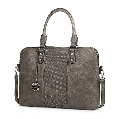 Lois - Kleine schoudertas voor dames. PU-leer en klinknagels. Voor dagelijkse wandeling of winkelen. Comfortabel en elegant. Kwaliteitsontwerp en merk. Ideaal voor cadeau. Mooi en origineel.