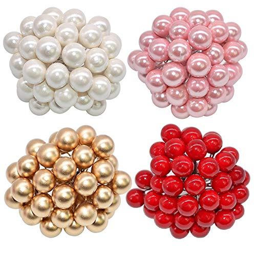 Supclub 50 unids/lote mini flor artificial estambres cereza Navidad plástico perla bayas para boda DIY caja de regalo decorado coronas