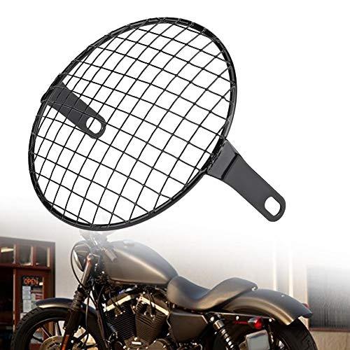Suuonee Protector de parrilla para faros delanteros de motocicleta, 16,5 cm, máscara para parrilla redonda para Cruiser Chopper Cafe Racer(#3)