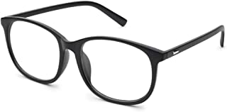 Jcerki Oversize Frame Nearsighted Glasses-2.00 Strength Short Sighted Men and Women Lightweight Myopia Spectacles **These are not Reading Glasses**