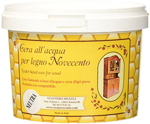 Cera Novecento Y898 Cera all'Acqua per Legno, Neutro, 500 ml