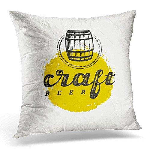 Funda de almohada decorativa para manualidades, diseño de cerveza, diseño artesanal, ideal para decoración del hogar, 45,7 x 45,7 cm
