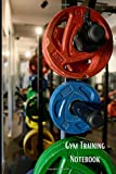 """Gym Training Notebook: Exercise/Workout Log Book – Size 6""""x9"""" 121 Page Diary for Men and Women. Fitness Journal and Planner for Workouts, Nutrition, Exercise and Record Progress."""