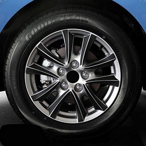 16 18 pulgadas de fibra de carbono 4 ruedas de llanta Etiqueta de ruedas Etiquetas engomadas impermeables para Mazda 3 M3 Axela 2013 2015 2015 Decoración externa (Color Name : 4 wheels)