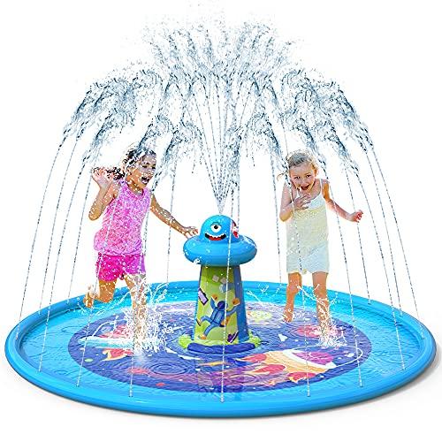 VATOS Splash Pad Aspersor de Juegos de Agua - Almohadilla de Juego de Agua Antideslizante de 67