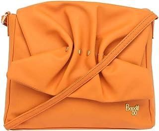 Baggit Women's Synthetic Satchel (Orange)