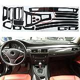 QQSGBD Accesorios de Fibra de Carbono para BMW 320I 325i 328i E90 Calcomanía Interior 5D Reflexivo De Fibra De Carbono ACTH Art DE REPOSITIVO DE Coches Accesorios