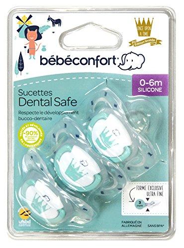 bébé confort Edition Limitée 3 Sucettes Dental Safe en Silicone 0/6
